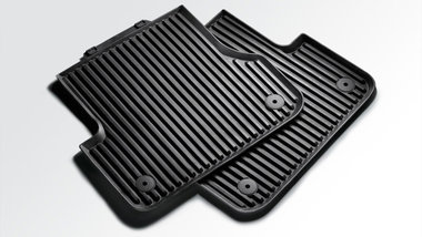 rubber vloermat mattenset mat set achter Audi A8 4H 2010+